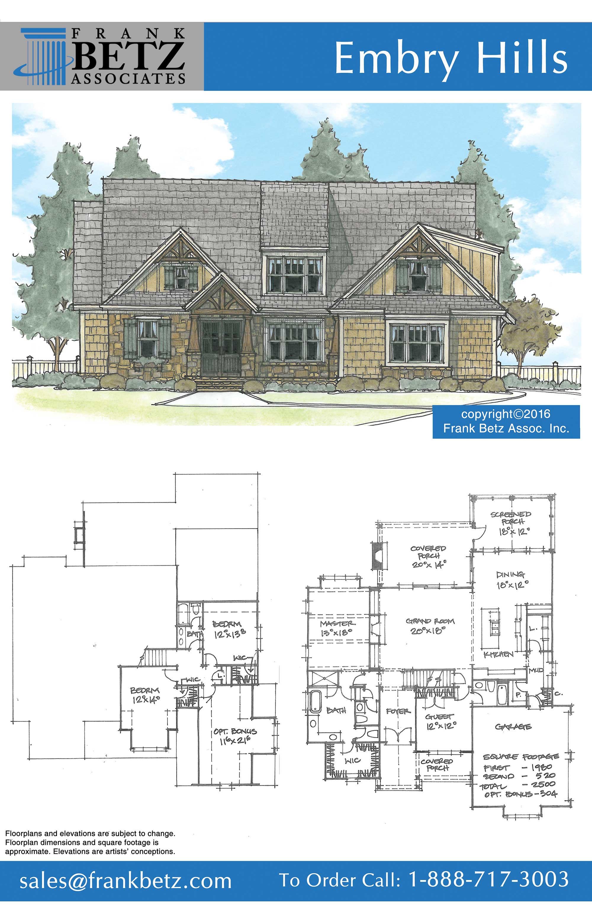 Drawingboard on House Plan With Drive Under Garage
