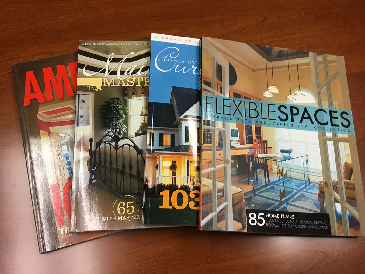SPECIAL 4 PACK OF PLAN BOOKS