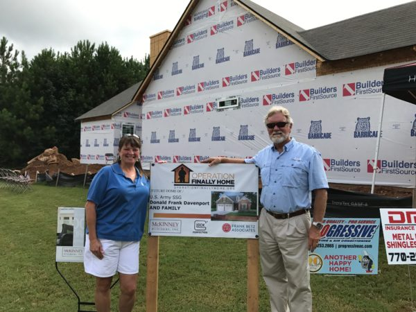 Laura Segers and builder Mr. Mac Mckinney from Mckinney Builders Inc.