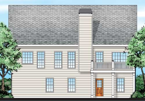 Moultrie House Plan Rear Elevation