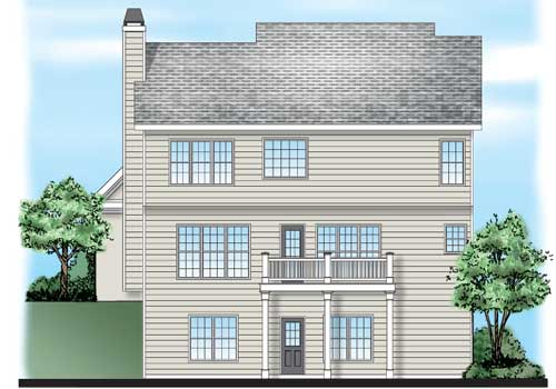 Gershwin House Plan Rear Elevation