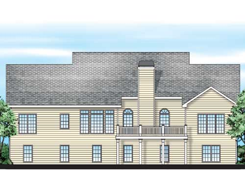 Allentown House Plan Rear Elevation