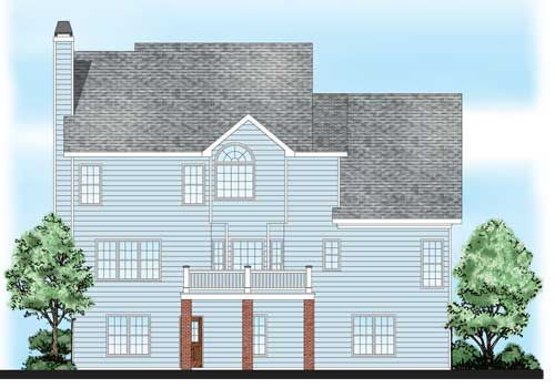 Adamsville House Plan Rear Elevation