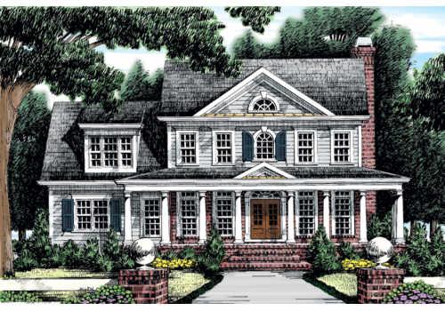 Clarkston House Floor Plan Frank Betz Associates