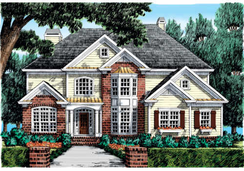 Hamilton Place House Plan Elevation