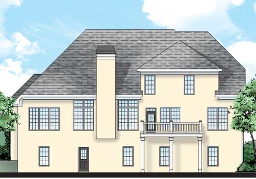 Witherspoon House Plan Rear Elevation