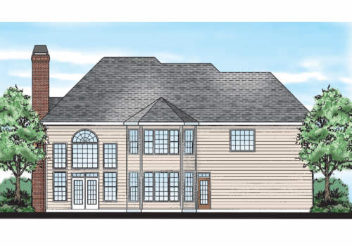 Ballantine House Plan Rear Elevation