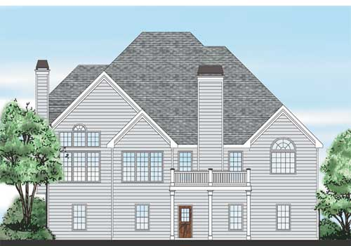 Summerfield House Plan Rear Elevation