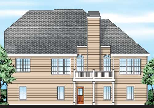 Wallace House Plan Rear Elevation