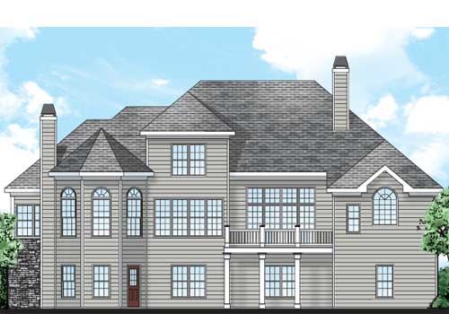 Clearbrook House Plan Rear Elevation