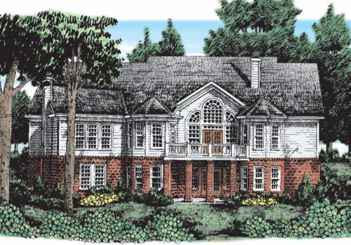Laurel river house floor plan frank betz associates for Laurel river house plan