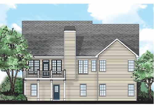 Powell House Plan Rear Elevation