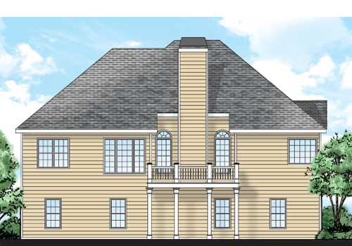 Brookhollow House Plan Rear Elevation