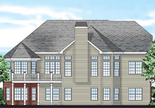 Kingsport House Plan Rear Elevation