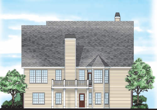 Addison Place House Plan Rear Elevation