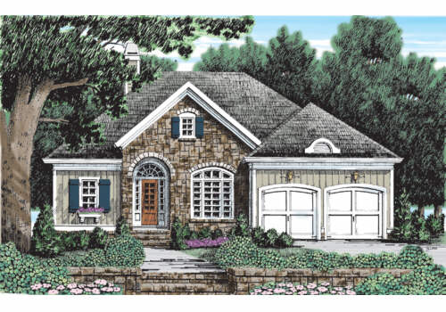 Briarcliff Cottage House Plan Elevation