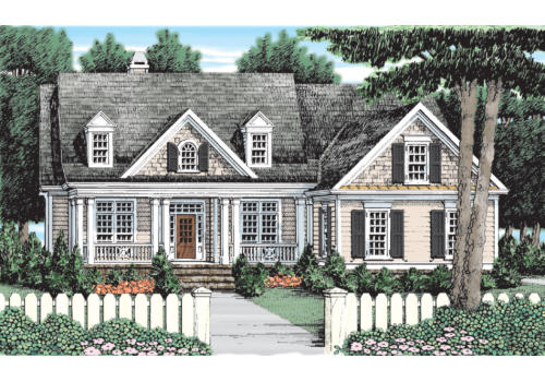 lincoln park house plan elevation - Rock House Plans