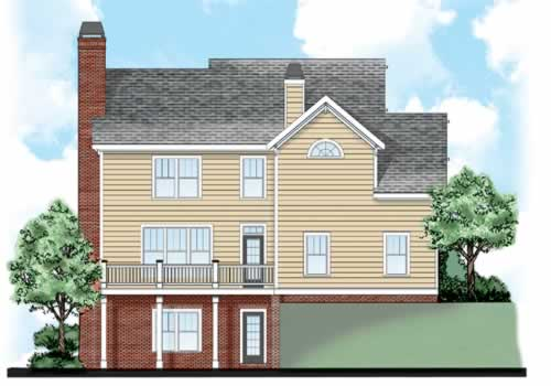 Ventura House Plan Rear Elevation