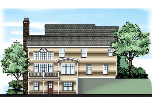 Mulholland House Plan Rear Elevation
