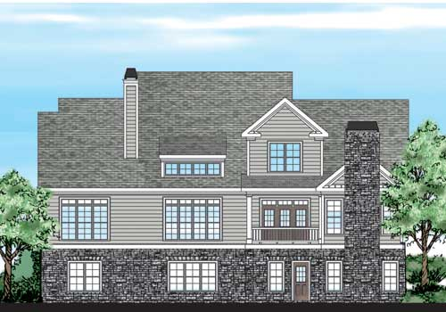 Collins Hill House Plan Rear Elevation