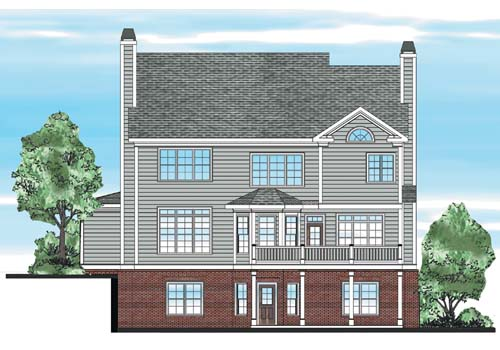 Morgans Landing House Plan Rear Elevation
