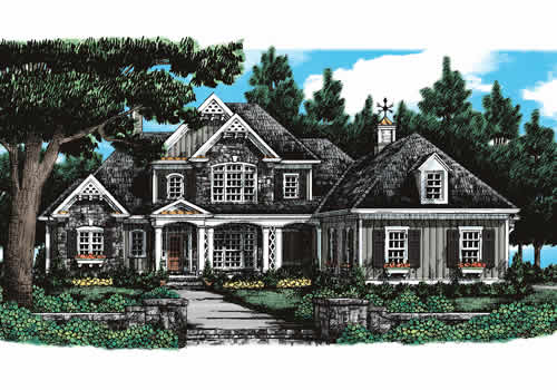 Chapel Hill House Plan Elevation