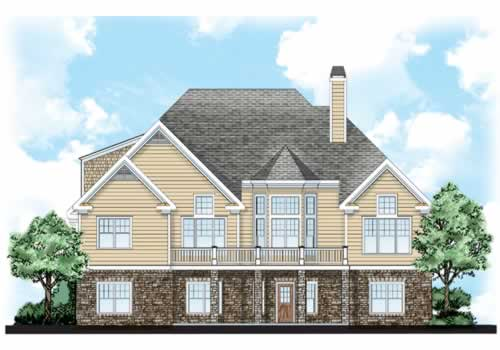 Maplewood House Plan Rear Elevation