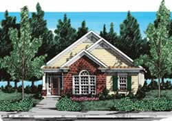 House plans home design floor plans and building plans for Zero lot house plans