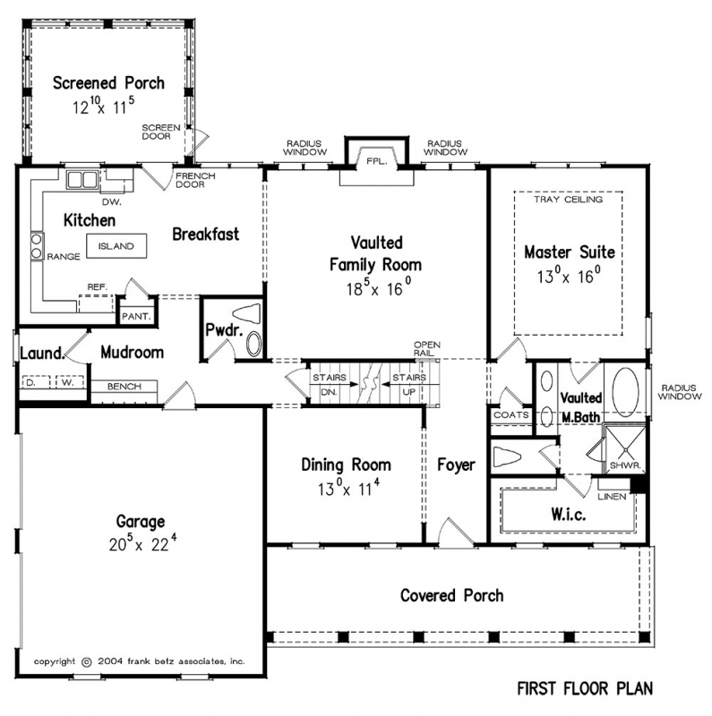 Azalea park house floor plan frank betz associates for Frank betz floor plans