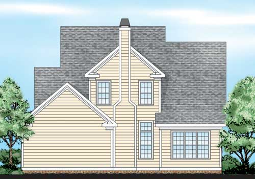 North Easton House Plan Rear Elevation