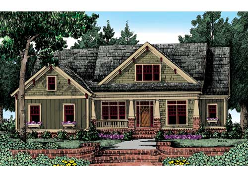craftsman style house plans | frank betz associates