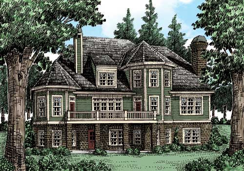 Westborough House Plan Rear Elevation
