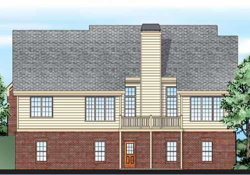 Willoughby House Plan Rear Elevation