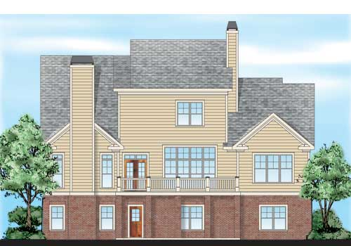 Crossville House Plan Rear Elevation
