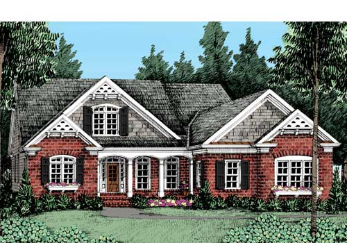 Castle Pines House Plan Elevation