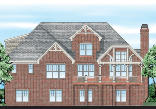 Summerlake House Plan Rear Elevation