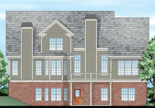 Preston Pointe House Plan Rear Elevation