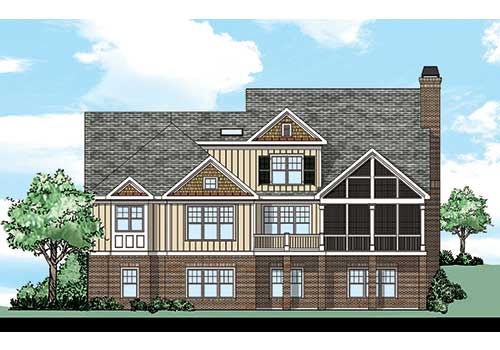 Azalea Farm House Plan Rear Elevation