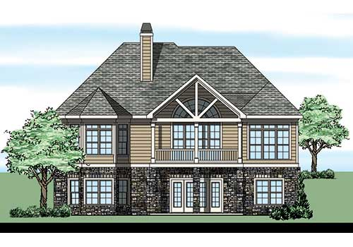 Heron Pointe House Plan Rear Elevation