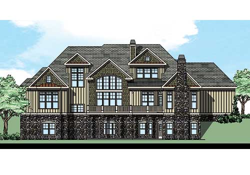 Souders Pointe House Plan Rear Elevation