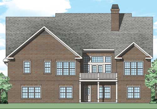 Durham Hills House Plan Rear Elevation