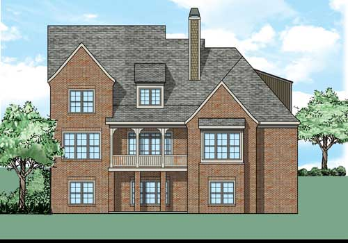 Spencers Mill House Plan Rear Elevation