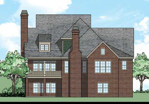 Abberly House Plan Rear Elevation