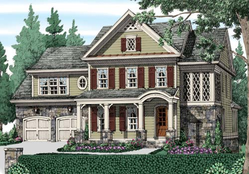 Olde heritage manor house floor plan frank betz associates for Heritage manor
