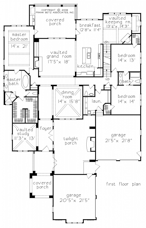 Falkirk ridge house floor plan frank betz associates for House plans with game room on main floor
