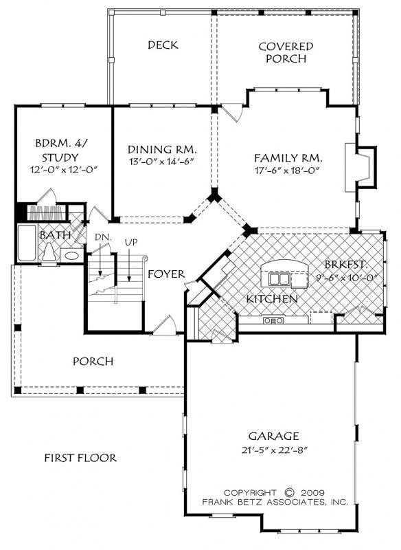 Buffington house floor plan frank betz associates for Frank betz floor plans