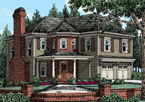Burnt Hickory House Plan Elevation