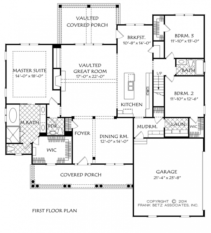 Altamonte house plan frank betz for Sullivan floor plan
