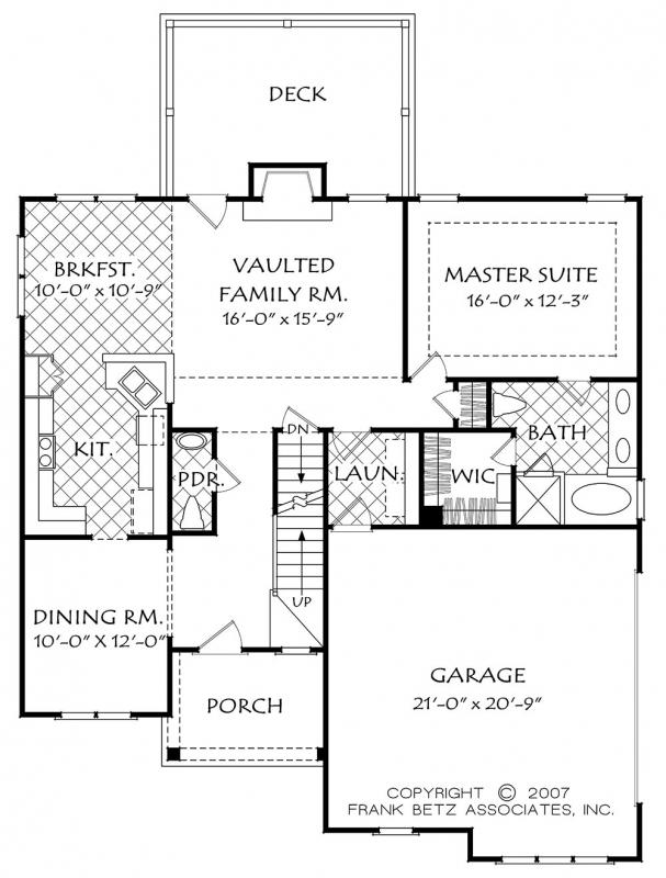 Heydon hall c house floor plan frank betz associates for Betz house plans