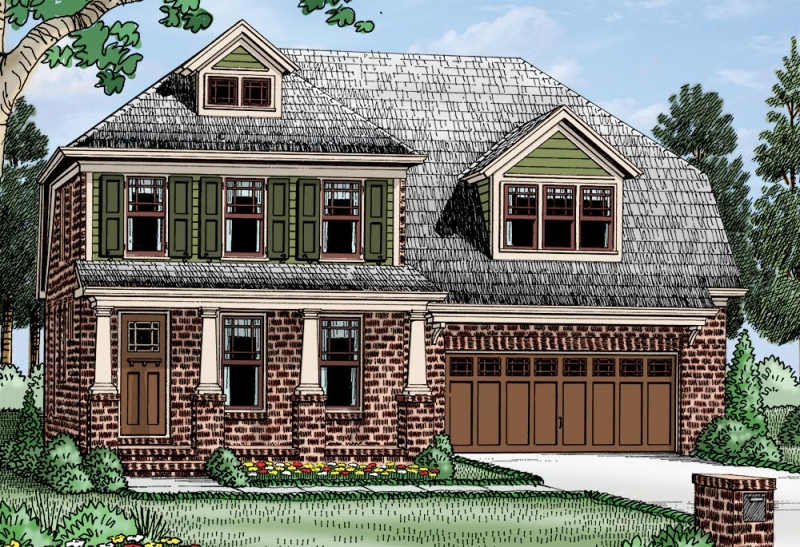 Dutch Colonial House Plans | Frank Betz Associates